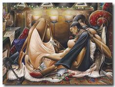 African American Art Fire and Desire Romance Frank Morrison Sexy Black Art, Black Love Art, African American Artwork, American Artists, African Artwork, Frank Morrison Art, Fire And Desire, Black Art Pictures, Tiger Pictures