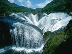 China: The Pearl Waterfall, Jiuzhaigou Valley, China