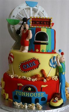 A carnival cake