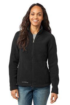 Eddie Bauer - Ladies Full-Zip Fleece Jacket, Black, Small