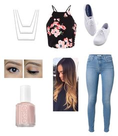 """Untitled #13"" by calliesusanne on Polyvore featuring 7 For All Mankind, Keds and Essie"