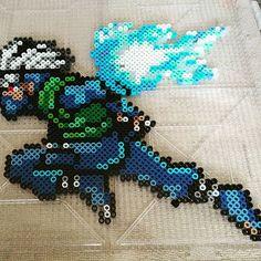 Kakashi Hatake - Naruto perler beads by Monicas Marvels