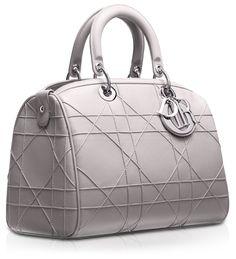 #DIOR GRANVILLE - Mink-grey Leather 'Dior Granville' polochon bag: love. it.