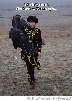 The eagle hunter...