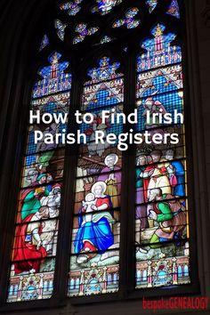 How to Find Irish Parish Registers - Bespoke Genealogy Free Genealogy Sites, Genealogy Forms, Genealogy Research, Family Genealogy, Free Family Tree, Family Trees, Genealogy Organization, Organizing, Family Tree Research