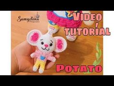 Potato amigurumi - YouTube Crochet Necklace, Crochet Hats, Potatoes, Youtube, Chain Stitch, Netflix Series, Amigurumi Patterns, Knitting Hats, Crochet Collar