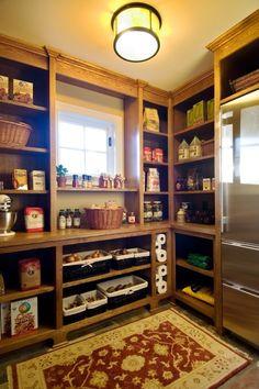 Kitchen Pantry Design Ideas |found on http://www.shelterness.com/33-cool-kitchen-pantry-design-ideas/pictures/9602/