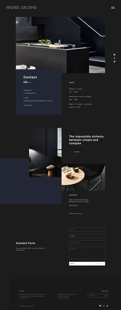 Higher Ground — Mustafa Çelik Ecommerce Website Design, Homepage Design, Best Interior Design Websites, Portfolio Website Design, Portfolio Layout, Higher Ground, Website Layout, Web Layout, Layout Design