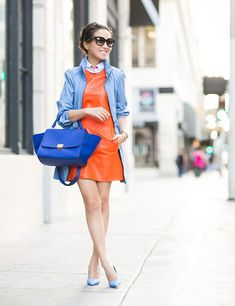 orange and blue outfit wendy nguyen
