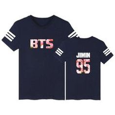 65bc0246b6d BTS Stripe Tee - Very Peachy Clothing Express your love for BTS with this  trendy