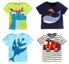 Retail Brand 2015 Childrens blouse T-shirt Kids Baby boys Clothing tshirts Summer Clothes Cartoon Dinosaur Car free shipping - ChinaBestPrice.com