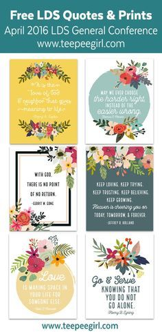 Free General Conference Quote Prints