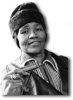 """Big Mama Thornton (1926 – 1984)""""Big Mama"""" Thornton was a large, tall, imposing woman that commanded the stage and took charge of everything and everyone around her. She was known to take no lip from anyone at any time. She was also a woman that knew the blues and could sing the blues with a power to match and even surpass many noted male singers.Photo by Dick Waterman"""