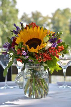#refletsfleurs# centre de table champetre