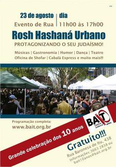Entidade judaica comemora 10 anos de atividades com evento ao ar livre.