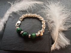 Lady Fern in Sterling Silver with Green Tiger's Eye x. #agnesdrjewellery