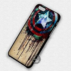 Melting Shield Captain America The Avengers - iPhone 7 6 5 SE Cases & Covers