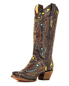 I haven't come around to the really pointy toed boots yet but if I did these would be the ones!  Corral - A1928