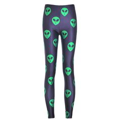 Chicnova Fashion Alien Printed Cropped Leggings ($8) ❤ liked on Polyvore featuring pants, leggings, alien, bottoms, cropped leggings, super skinny pants, print pants, skinny fit pants and cropped pants
