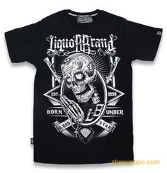 Skully.  Liquor Brand Camiseta Chico TSM 245.  100% algodón. Encuéntrala en shopsnapo.com