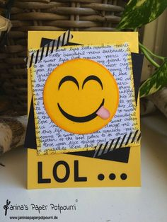 jpp - LOL emoji Card / Smiley Karte / Stampin' Up! Berlin www.janinaspaperpotpourri.de