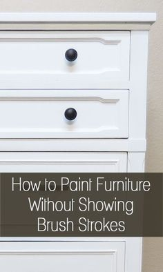 I always strive for a smooth finish when working on a piece of furniture, at least on the base paint, before distressing or aging it.  In my opinion, brush strokes make a piece look sloppily painted. I think you can have a polished look even when you are distressing or #paintingfurniture