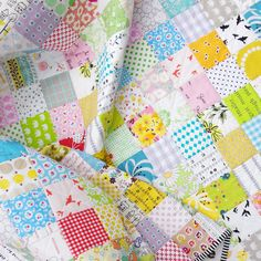 Traditional Patchwork Quilt Modern Fabrics by redpepperquilts