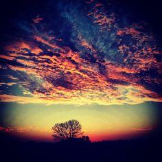 Sunset in Columbia, MO