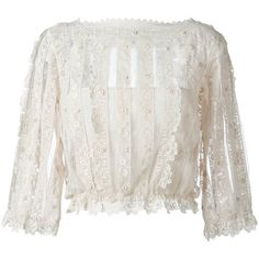 Red Valentino boat neck see-through blouse (14,115 MXN) ❤ liked on Polyvore featuring tops, blouses, shirts, blusas, white, see through blouse, transparent blouse, sheer blouse, white shirt and see through tops