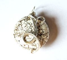 Jewelry  Wire wrapped Pendant  Silver  Boho by DistortedEarth, $15.00
