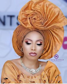 60 Unique Gele Styles You Can Try For Your Next Owambe - Ankara Lovers African Hair Wrap, African Head Wraps, African Wear, African Attire, African Lace Dresses, Latest African Fashion Dresses, African Print Fashion, African Wedding Attire, Nigerian Bride