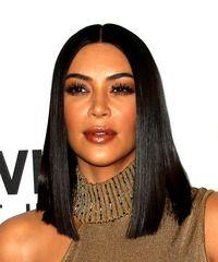 Kim Kardashian Medium Straight Formal Bob Hairstyle – Black Hair Color … - New Site Bob Hairstyles For Fine Hair, Hairstyles Haircuts, Virtual Hairstyles, Celebrity Hairstyles, Kim Kardashian Hair, Kardashian Hairstyles, Black Bob Haircut, Straight Bob Haircut, Asymmetrical Bob Haircuts