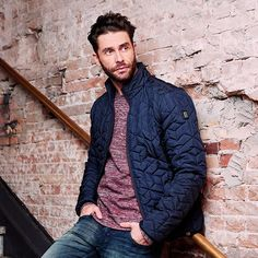 Get Ready For Autumn with this Quilted Jacket by No-Excess.