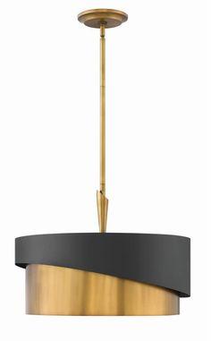 """Fredrick Ramond FR34314 Gigi 3 Light 21"""" Wide Drum Chandelier Heritage Brass Indoor Lighting Chandeliers"""