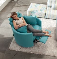 Fama moon electric recliner swivel and rocking chair - Sillones malaga ...