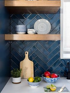 Contemporary Kitchen With Vaulted Ceilings Hgtv Faces Of Design 2018 Hgtv Ceilings Contemporary Design Faces Hgtv Kitchen Vaulted Blue Backsplash, Herringbone Backsplash, Herringbone Floors, Backsplash Ideas, Herringbone Pattern, Backsplash Wallpaper, Stone Backsplash, Beadboard Backsplash, Tile Ideas