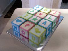 """Baby Blocks Cake - What about """"ALOHA BABY""""?"""