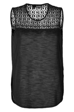 The Kooples Embroidred Sheer Top Tank