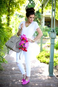 Emily Gemma of The Sweetest Thing looking great in our Felize loafers.