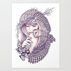 Owl Spirit Art Canvas