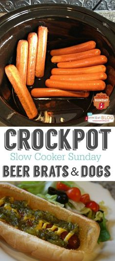 Crockpot Beer Brats and Dogs | Great for when you've got a crowd to feed! Find more Slow Cooker Recipes on TodaysCreativeBlog.net