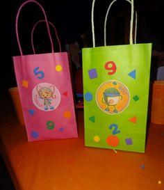 Photo 1 of Team Umizoomi / Birthday Catch My Party 4th Birthday Parties, Birthday Diy, Birthday Party Decorations, Birthday Ideas, Kids Party Themes, Party Ideas, Party Favor Bags, Goody Bags, Gift Bags