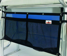 For your boat:  Organizer Attached with Bungee hooks.  Keep your boat organized - Tackle or kids shoes - K7Watersports.com