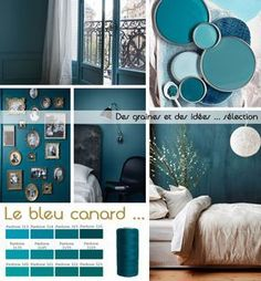 "Medium blue, half green, always at the limit …, the blue, which we call ""cana"" … - Schönsten Deko-Ideen Interior Paint Colors, Paint Colors For Home, Room Interior, Interior Design Living Room, Living Room Decor, Bedroom Decor, Room Colors, Wall Colors, House Colors"