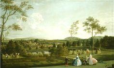 1743 Edwardy Haytley (English artist, (1740-61) The Montagu family at their Sandleford Priory estate in Berkshire