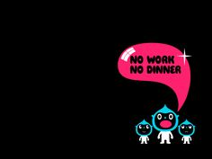 No Work No Dinner by Simon Oxley
