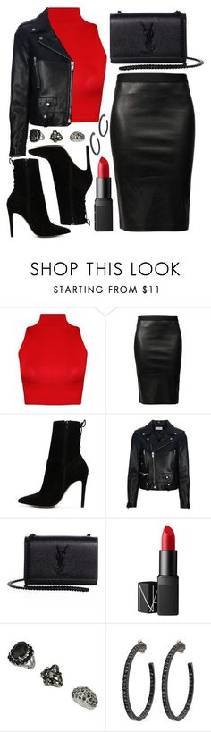 """""""Untitled #4399"""" by natalyasidunova ❤ liked on Polyvore featuring WearAll, Helmut Lang, ALDO, Yves Saint Laurent, NARS Cosmetics, Topshop and Yossi Harari"""