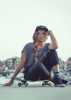 Dreaming of better days | #skatedeluxe #sk8dlx #streetwear #skateboarding #style #skate #girl