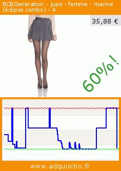 BCBGeneration - jupe - femme - marine (éclipse combo) - 4 (Vêtements). Réduction de 60%! Prix actuel 35,88 €, l'ancien prix était de 89,70 €. https://www.adquisitio.fr/bcbgeneration/jupe-femme-marine-%C3%A9clipse-0