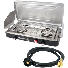Stansport 212 Outfitter Series Propane Stove with 191 Appliance Hose to Bulk Tank 10Feet -- Visit the image link more details.